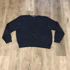 Polo Ralph Lauren 100% Silk Cable Knit Sweater XXL